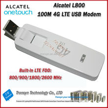 Cheapest Original Unlock LTE FDD 100Mbps Alcatel 4G USB Modem L800 Support LTE FDD 800/900/1800/2600MHz
