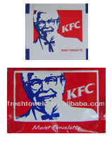 Disposable non-woven KFC restaurant wet wipes/tissues/towels