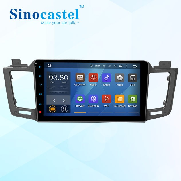 "10.1"" android 5.1.1 quad-core car stereo for Toyota RAV4 with USB,GPS,Wifi, 3G, mirror link"