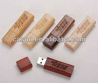 wooden usb drive with rounded rectangle
