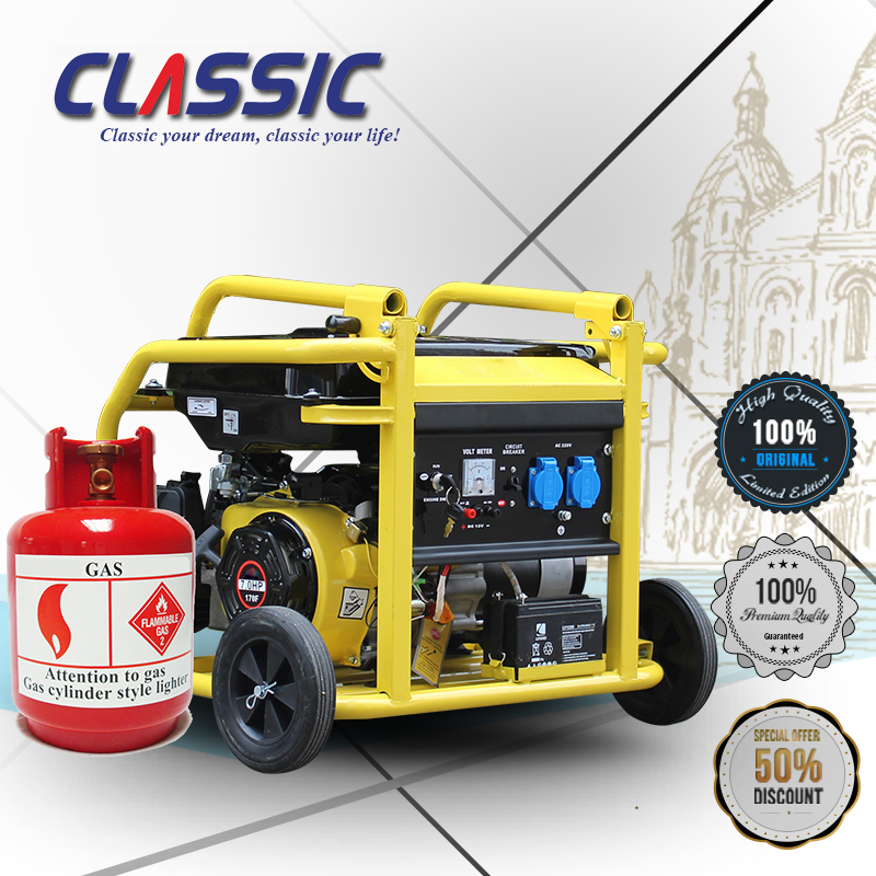 CLASSIC(CHINA) Silent Portable Natural Gas Generators for Home Use, Portable TRI Fuel Generator, Propane and Gas Generator