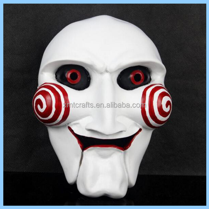 EXW hot selling cosplay decoration resin party killer mask movie the saw
