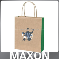 factory price durable black colored shopping gift paper bag for shopping