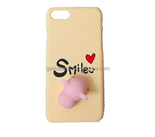 lovely cute TPU silicon 3D Cat squeeze china mobile diy squishy phone case for iphone 6 plus