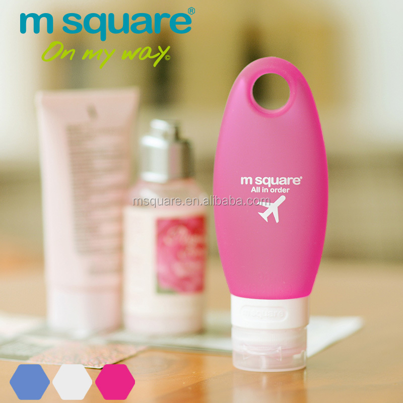 Hanging leak proof msquare plastic silicone cosmetic bottle for <strong>traveling</strong>