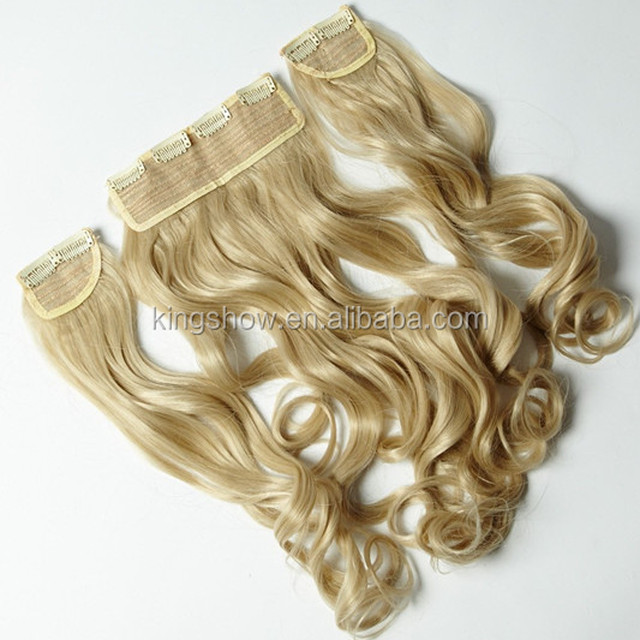 Curly easy clip in human hair one piece extensions