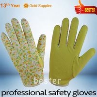 Low price competitive cotton work gloves with yellow pvc dots