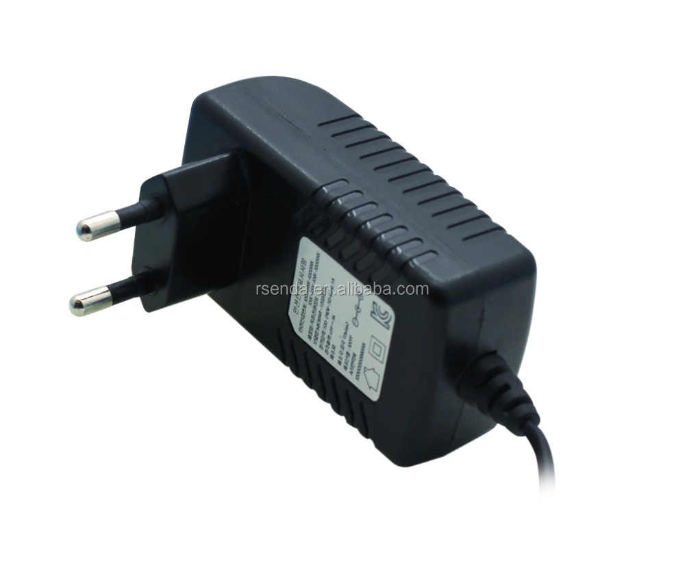 DC Output Type and Plug In Connection 12V 2000mA AC Adaptor