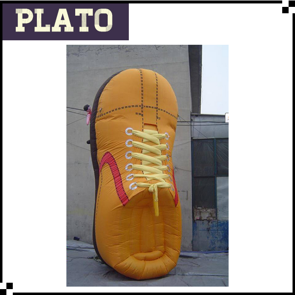 New design giant inflatable sports shoes, inflatable shoes model