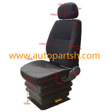 air suspension tractor seat with or without adjustor