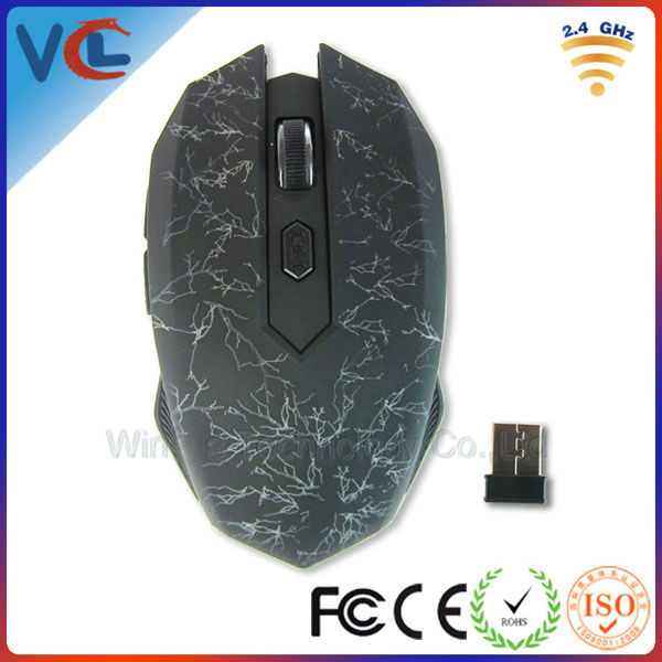 Laser engraving pattern optical 2.4g wireless gaming mouse