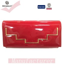 80460 Women Handbag Patent Leather Ladies Purse Evening Clutch Bags With Irregular Bar