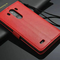 Crazy Horse Texture Foldable with card holders Magnetic Flip Stand Leather Case for LG G3 D850