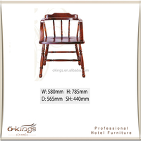 Wholesale Teak Red Hotel Armchair with Best Price