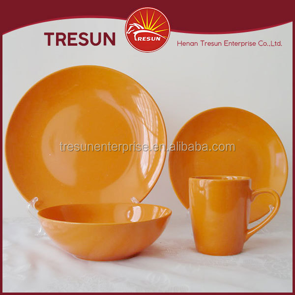 16 pcs. ceramic color glaze crockery and directly wholesale crockery