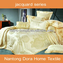Imitated silk elegant jacquard bed linens for wedding