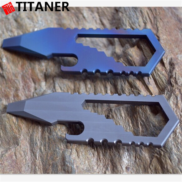 hot sale new multi function titanium tools key chain EDC