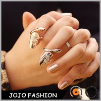 2014 New Arrival Women Brand Creative Jewelry Gold/Silver Tone Alloy Cute Fashion Long Finger Tip Nail Rings