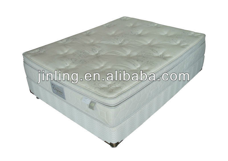 Pocket spring mattress with latex foam in filling