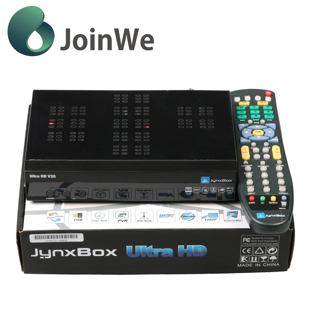 Joinwe Smart Tv Box Android Jynxbox Ultra Hd V30 With Jb200,Wifi Antenna And Full Hd 1080p For North America