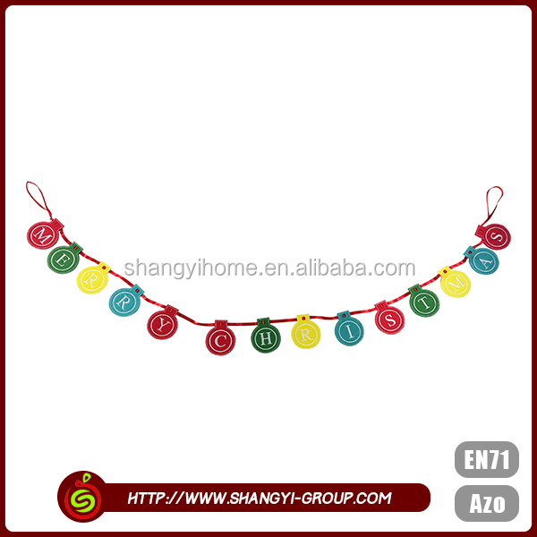 Popular garland hanging party fancy christmas decoration