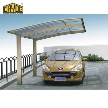 Plastic sunroom aluminium car sun shade sun carport shade