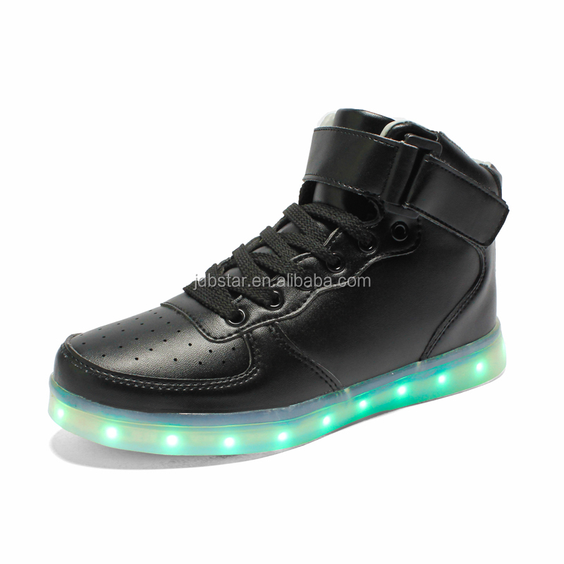 New design high top led shoes with 7color light up led shoes