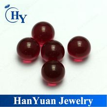 Wu Zhou Wholesale ruby red 4.0mm glass beads