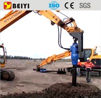 BEIYI excavator drilling attachment hydraulic post driver high quality drill motor