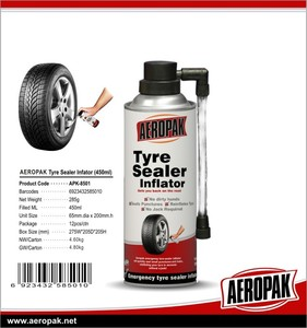 Efficient Tire sealer and inflator, Tire Emergency Inflator tyre fix spray