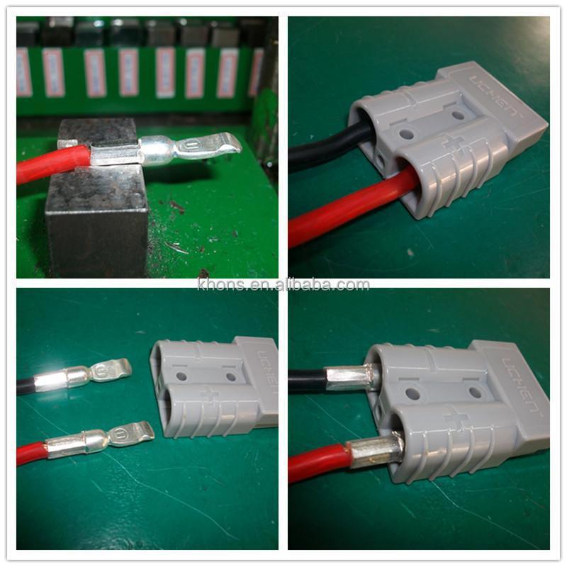 50a 600v Connector Plug Grey Battery Terminal Connector 2 Pin