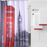 London Telephone Booth Pattern Waterproof Faric