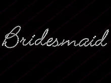 bling bridesmaid hot fix rhinestone motif for wedding dress motif