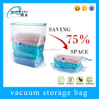 Eco friendly zip lock cube vacuum storage bag