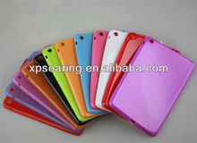 Jelly candy tpu case back cover for mini ipad