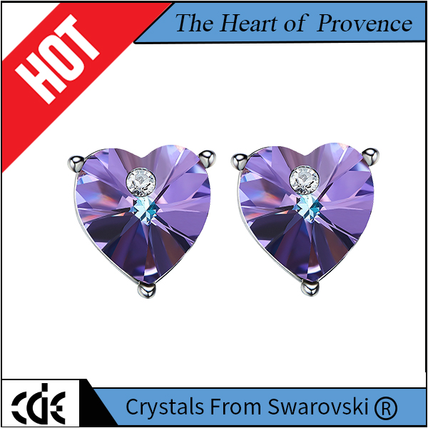 CDE fashion Crystals from Swarovski the heart of Provence stud earrings