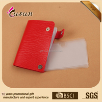 New Short PU Leather Credit Card Holder/ leather card case/PU card holder