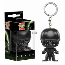2017 New Movie ALIEN POP figure key chain, ALIEN pocket POP keychain,MINI PVC keychain