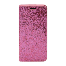 Luxury Bling Stand Magnetic Mobile Phone PU Leather Flip Cover For IPhone 7 8 X