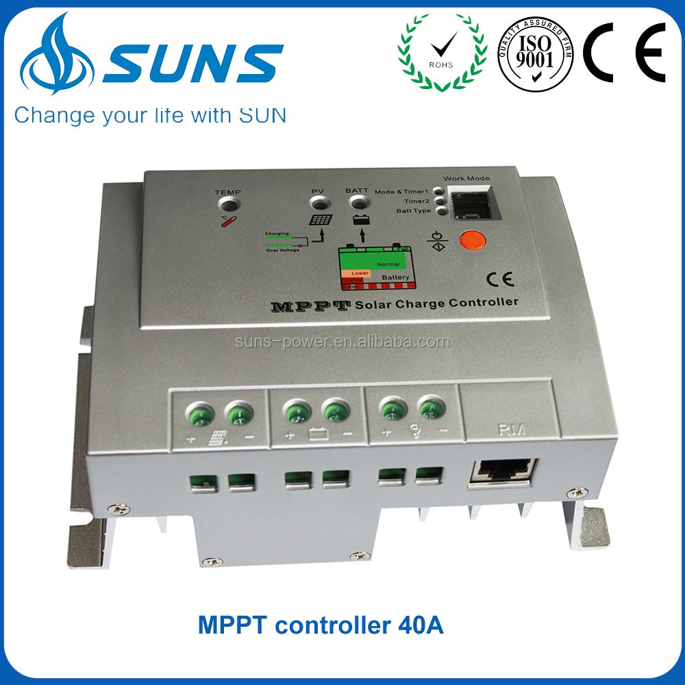Volume manufacture li-ion adjustable mppt solar charge controller with lcd display