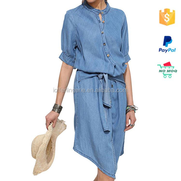 Drop Shipping Latest Fashion Jeans Dress For Women