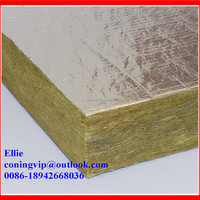 Rock wool board with Aluminum foil for commercial Building curtain wall insulation