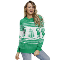 LADIES WOMENS XMAS CHRISTMAS NOVELTY VINTAGE 70'S JUMPER RETRO SWEATER