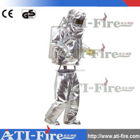 CE certificate fire resistance proximity safety suit with aluminum foil