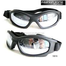 High quality black frame UV400 elastic strap motorcycle motocross goggle