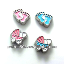 Baby Girl Baby Boy Floating Charm for glass lockets floating charms (FCZ-64)