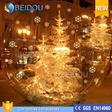 Custom Made Outdoor Clear Christmas Inflatable Tree Snow Globe for Sale
