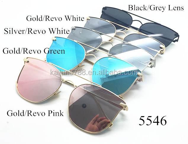 Metal Alloy Frame Eyewear New Summer Style Mirror Lens Cat Eye Sunglasses High Quality