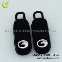 Good quality fashion pvc/silicone ykk zipper puller at cheap factory price
