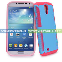 PC + Silicone Dual Layer Hybrid Case for Samsung Galaxy S4 SIV S IV / GT-I9500